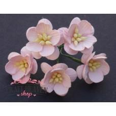 Pale Pink Mulberry Paper Cherry Blossoms - 25mm