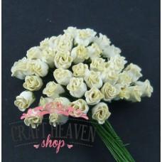 Cream Hip Rosebuds - 10mm