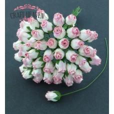 2-Tone Pink Hip Rosebuds - 10mm
