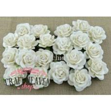 White Mulberry Paper Trellis Roses - 35mm