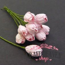 Baby Pink Mulberry Paper Tulip Flowers - 10mm