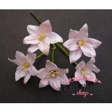 Baby Pink Mulberry Paper Lily Flowers - 30mm