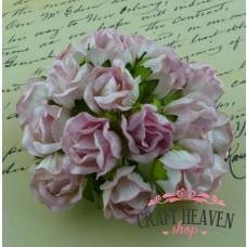 Large 2-Tone Baby Pink Wild Rosebuds - 20mm