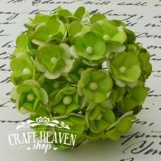 2-Tone Green Sweetheart Blossoms - 15mm