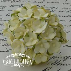 2-Tone Pale Yellow Sweetheart Blossoms - 15mm