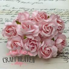 Large Pale Pink Wild Roses - 40mm