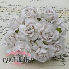 Large White Wild Roses - 40mm
