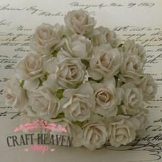 Ivory Mulberry Paper Wild Roses - 30mm