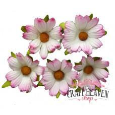 2-Tone Pink Mulberry Paper Chrysanthemums - 45mm
