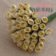 Cream Mulberry Paper Rosebuds - 8mm