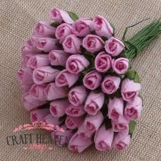 Baby Pink Mulberry Paper Rosebuds - 8mm