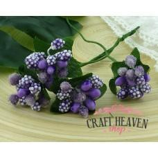 Purple/Lilac Bead Berry Spray Clusters