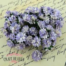 2-Tone Lilac Mulberry Paper Aster Daisy Stem Flowers - 15mm