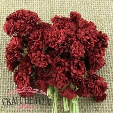 Deep Red Mulberry Paper Gypsophila Flowers - 10mm