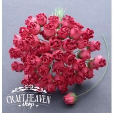 Deep Red Hip Rosebuds - 10mm