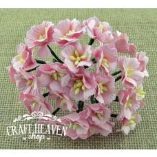 Light Pink Mulberry Paper Apple Blossoms - 25mm