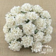 Ivory Tuscany Mulberry Paper Roses - 35mm