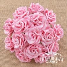 Baby Pink Mulberry Paper Chelsea Roses - 35mm