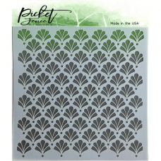 Floral Damask Stencil - Picket Fence Studios