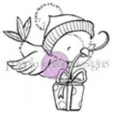 Cranberry (Bird with Gift) - Purple Onion Designs