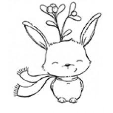 Fawn (Winter Rabbit with Mistletoe) - Purple Onion Designs