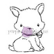 Peppermint (Puppy with Bow) - Purple Onion Designs