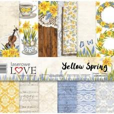 Set of papers - Yellow Spring - 30,5 x 30,5 cm - Laserowe LOVE