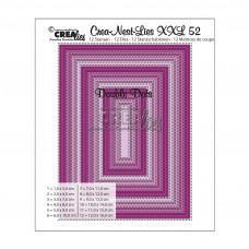 Kovinske šablone - Crea-Nest-Lies XXL Dies no.52 - Rectangles with Double Dots