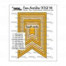 Kovinske šablone - Crea-Nest-Lies XXL Dies no.98 - Fishtail Banner with Small Circles