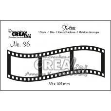Kovinske šablone - Crea-Lies X-tra Dies no.36 - Curved Filmstrip Middle
