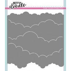 Plastična šablona - Cloudy Skies Stencil - Heffy Doodle