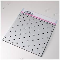 Plastična šablona - Confetti Hearts Stencil - Heffy Doodle