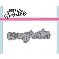 Kovinska šablona - Heffy Cuts - Congrats - Heffy Doodle