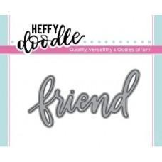 Kovinska šablona - Heffy Cuts - Friend - Heffy Doodle