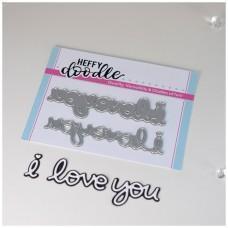 Kovinske šablone - Heffy Cuts - I Love You (Shadow) - Heffy Doodle