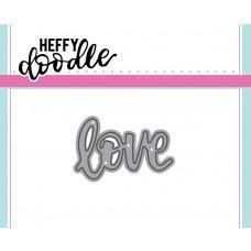 Kovinska šablona - Heffy Cuts - Love - Heffy Doodle