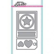 Kovinska šablona - Heffy Cuts - Mini Essentials - Heffy Doodle