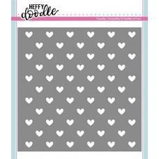 Plastična šablona - Steady Heart Stencil - Heffy Doodle