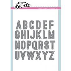 Kovinska šablona - Heffy Cuts - Stitched Alphabetters - Heffy Doodle