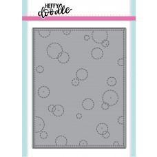 Kovinska šablona - Heffy Cuts - Stitched Bubble Background - Heffy Doodle