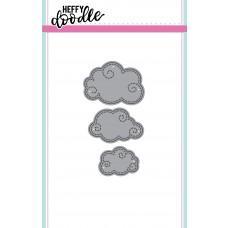 Kovinska šablona - Heffy Cuts - Swirly Clouds - Heffy Doodle