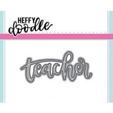 Kovinska šablona - Heffy Cuts - Teacher - Heffy Doodle
