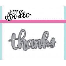 Kovinska šablona - Heffy Cuts - Thanks - Heffy Doodle