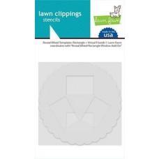 Plastične šablone - Reveal Wheel Templates: Rectangle + Virtual Friends - Lawn Fawn