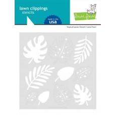 Plastična šablona - Tropical Leaves - Lawn Fawn