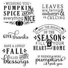 Set štampiljk - Happy Fall Sentiments - LDRS Creative