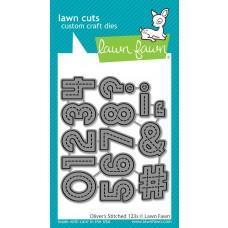 Kovinske šablone - Lawn Cuts - Oliver's Stitched 123s - Lawn Fawn