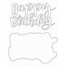 Kovinska šablona - Hand-Lettered Happy Birthday - My Favorite Things