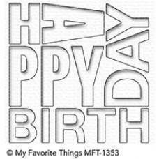 Kovinska šablona - Happy Birthday Block - My Favorite Things