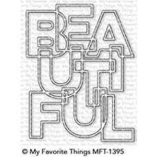 Kovinska šablona - Bold Beautiful - My Favorite Things